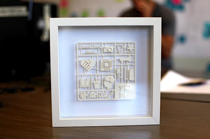 Thank You Cards {3D Printing} - Shachar Aylon / Creative Portfolio
