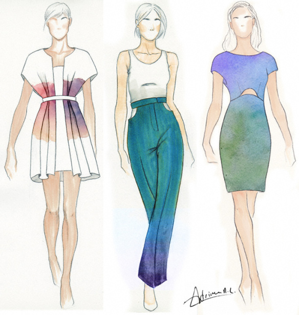 Fashion Sketches - CottonLike design illustration textiles adriana ...